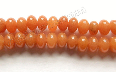 Red Aventurine - Smooth Rondel  16""