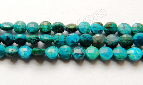 Azurite Malachite Turquoise  -  Small Diamond Cut Coins 15""