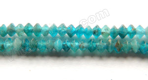 Apatite Natural AAA  -  Small Faceted Saucer  15""