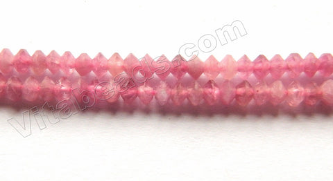 Pink Tourmaline Natural AAA  -  Small Faceted Saucer  15""