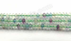 Rainbow Fluorite Natural A  -  Small Faceted Saucer  15""