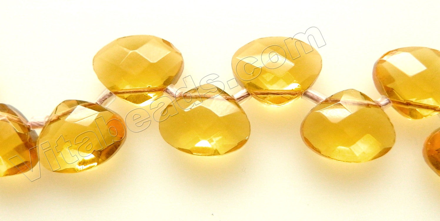 Citrine Crystal - Faceted Flat Briolette 6""