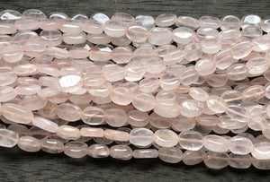 Rose Quartz  -  Flat Oval 14""