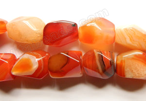Carnelian w/ Stripes  -  Machine Cut Nuggets  16""