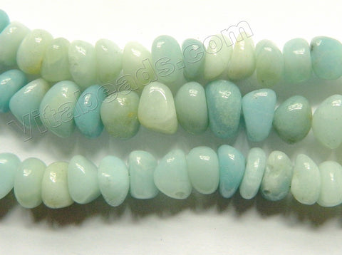 Amazonite A  -  Center Drilled Small Tumble  16""