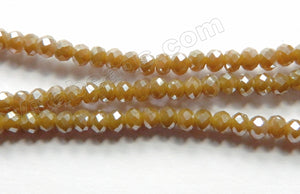 Plated Brown Chalcedony Quartz  -  Small Faceted Rondel  16""