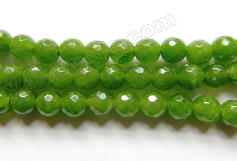 Bright BC Green Jade  -  Faceted Round