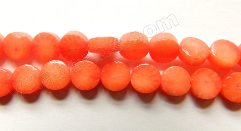 Orange Coral  -  Small Flat Coins  16""