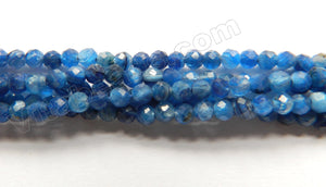 Deep Blue Kyanite Natural AAA  -  Small Faceted Round 15""