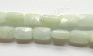 Light Amazonite  -  Small Faceted Rectangles 15""