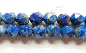 Snow Lapis Lazuli AAA  -  Diamond Cut faceted Round  15""