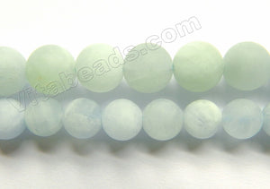 Matte Light Aquamarine Natural  -  Smooth Round 15""