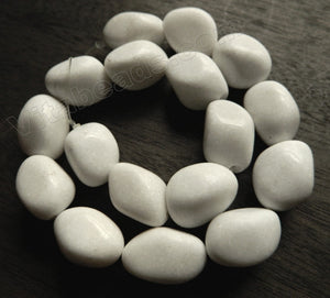 White Mashan Jade  -  Smooth Nuggets  16""