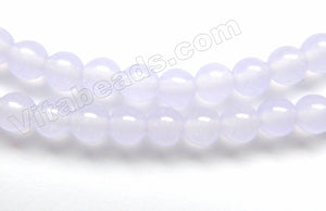 Pale Purple Malay Jade - Smooth Round 15""