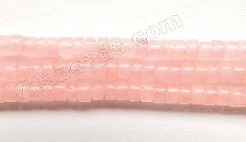 Rose Quartz  -  Small Heishi  15""