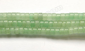 Green Aventurine Light  -  Small Heishi  15""