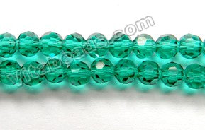 Emerald Crystal Quartz  -  Faceted Round   10""