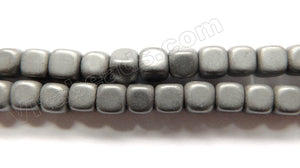 Matte Hematite  -  Smooth Cubes  15""