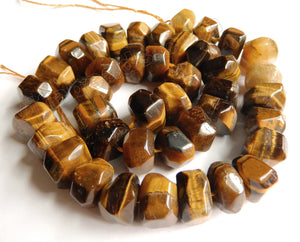 Tiger Eye A  -  Big Rose Cut Rondels  15""