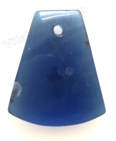 Dark Blue Quartz Clear - Smooth Ladder Pendant