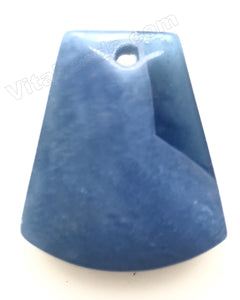 Blue Quartz Smooth Ladder Pendant