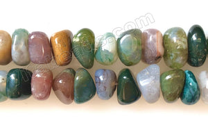 Fancy Jasper A  -  Center Drilled Nuggets  16""