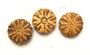 Flower Coin - Double Side 17 x 5 mm # 1