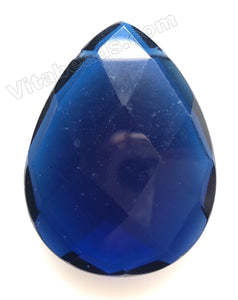 Faceted Pendant - Briolette  London Blue Crystal Quartz