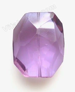 Faceted Nugget Pendant Amethyst Crystal Qtz