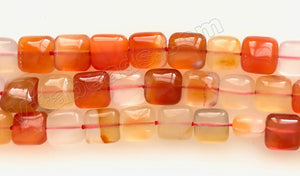 Natural Carnelian Light AA  -  Puff Squares  16""