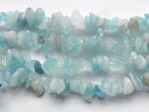 Natural Aquamarine  -  Small Chip Nuggets  36""