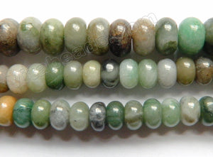 Chinese Green Jade Natural A  -  Smooth Rondel  16""