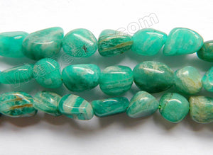Dark Russian Amazonite   -  Small Tumble  16""