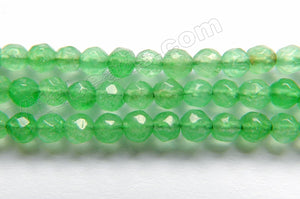 Bright Spring Green Jade  -  Faceted Round  15""