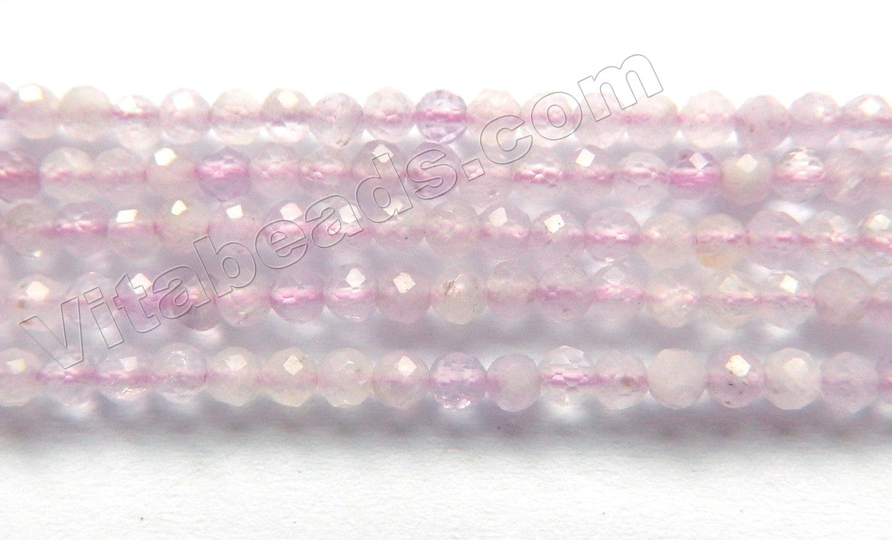 Light Cape Amethyst Natural AA  -  Small Faceted Rondel, Faceted Button   15""