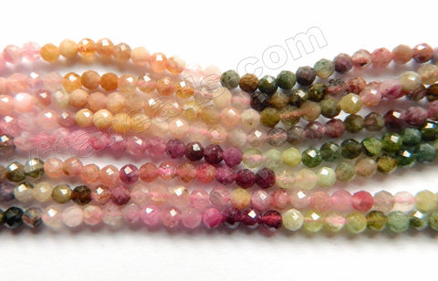 Rainbow Tourmaline Natural AA  -  Small Faceted Round  15""