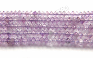 Amethyst Natural AA  -  Small Faceted Button, Saucer 15""