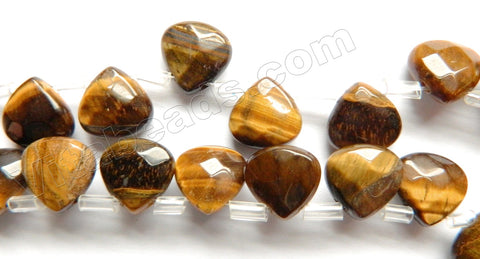 Tiger Eye  -  Faceted Flat Briolette   8""
