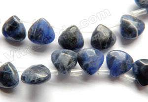 Sodalite  -  Faceted Flat Briolette   8""
