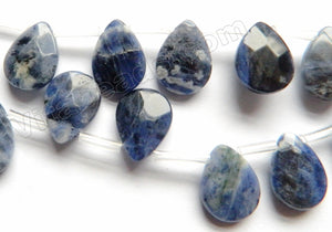 Sodalite  -  Faceted Flat Briolette  16""