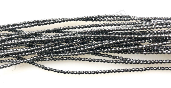 Hematite  -  Small Faceted Round 16""