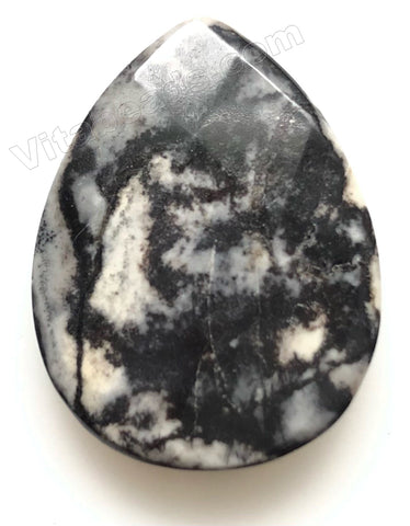 Matrix Jasper Dark - Faceted Pendant - Briolette
