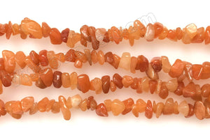 Red Aventurine Dark  -  Chips 36""