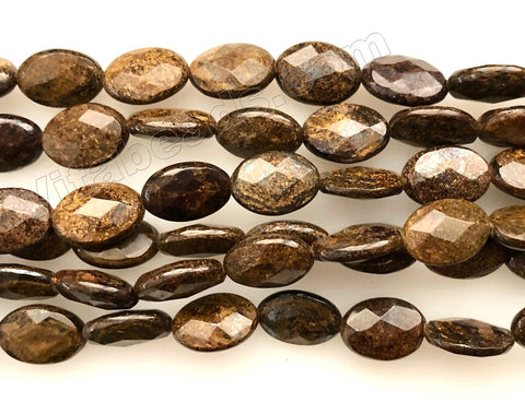 Bronzite  -  Faceted Ovals  16""