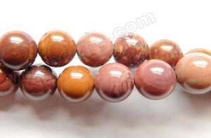 Pink Conglomarite Jasper A  -  Smooth Round  16""