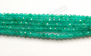 Emerald Jade AAA  -  Small Faceted Round  15""