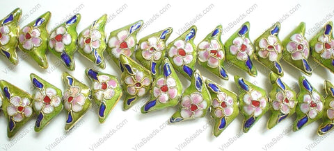 Cloisonne Beads - 11x22mm Triangle