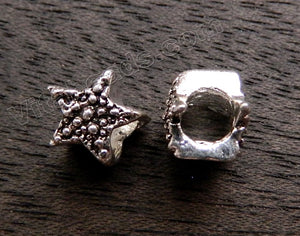 Metal Charm - 5mm hole Star Fish A - 056