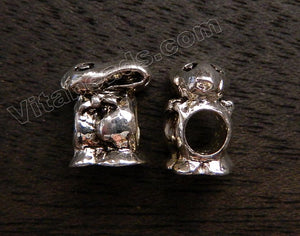 Metal Charm - 5mm hole Rabbit A - 033