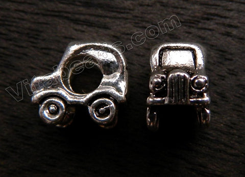 Metal Charm - 5mm hole Turtle Car A - 030
